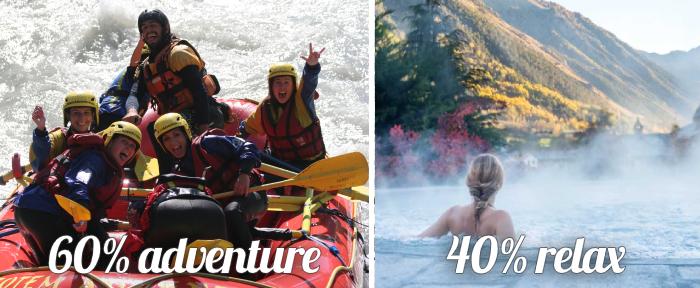 60% avventura 40% relax